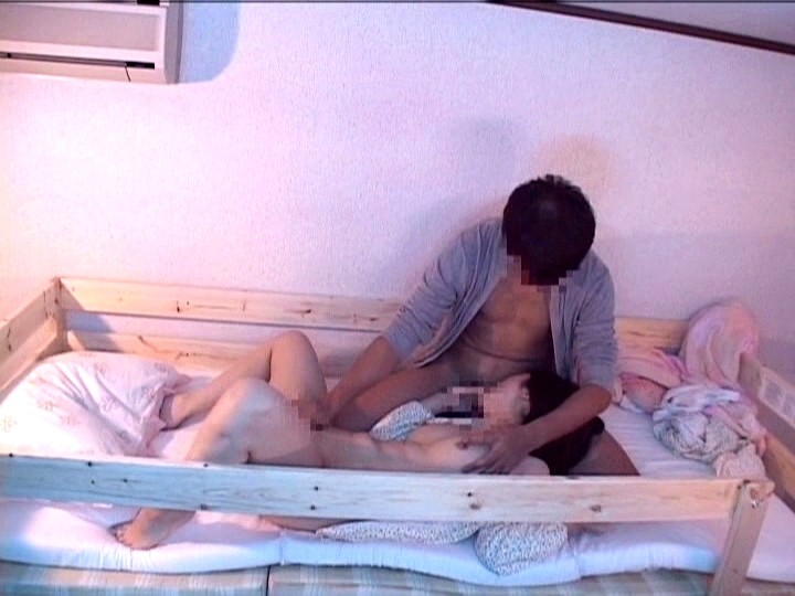 Bunk bed sex with three people