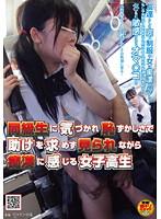 「同級生に気づかれ恥ずかしさで助けを求めず見られながら痴○に感じる女子校生」のパッケージ画像