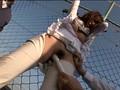 屋上で昼休み中の女子社員を拘束張り付けイカセ放置 7