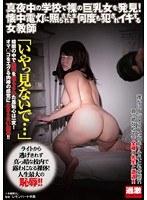 真夜中の学校で裸の巨乳女を発見!懐中電灯に照らされたまま何度も犯されイキする女教師 ダウンロード
