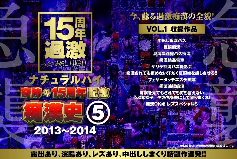 ナチュラルハイ奇跡の15周年記念 痴漢史(5)2013-2014 VOL.1