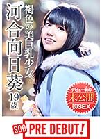 「河合向日葵(19) 褐色の美巨乳少女 デビュー前の未公開初SEX」のパッケージ画像