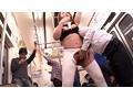 地下鉄の車内で見つけたポールがケツにメリ込むデカ尻スパッツ女子 4