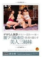 デカちん執事をオナニー道具のために雇って、腰フリ騎乗位で快楽を満たす美人三姉妹