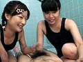 身長135cmのスク水ちびっ娘3人組 営業中のプールでパパには内緒のイタズラごっこ 6