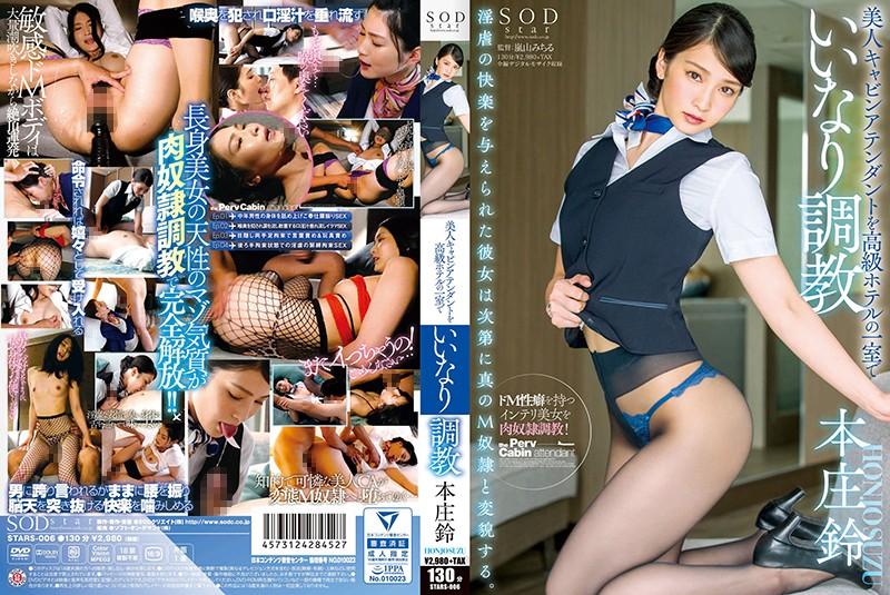 本庄鈴 美人キャビンアテンダントを高級ホテルの一室でいいなり調教 パッケージ画像