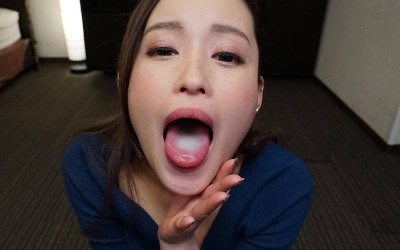 桐嶋りののデカ舌フェラ8