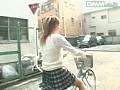 自転車にまたがる女子校生のムッチリ太ももとくい込み恥骨 常夏みかん 16