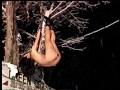 非道アイスピック 吊るされ女 火炎と針と吹き矢責め 14
