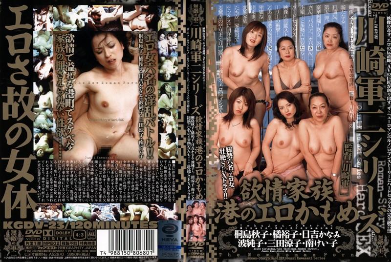 旅館にて、淫乱の熟女、桐島秋子出演の無料動画像。川崎軍二シリーズ 欲情家族 港のエロかもめ