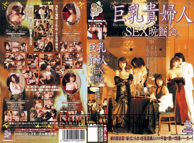 淫乱の人妻、椎名ひとみ出演の騎乗位無料熟女動画像。巨乳貴婦人 SEX晩餐会