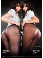 「黒ストッキングの巨尻お姉さんに中出し 水城奈緒 松すみれ」のパッケージ画像