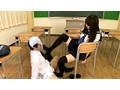 制服の似合う女の子の黒ニーソで足コキ 16