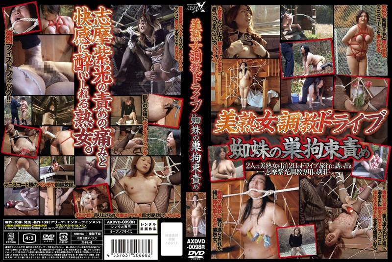 熟女の縛り無料動画像。美熟女調教ドライブ 蜘蛛の巣拘束責め