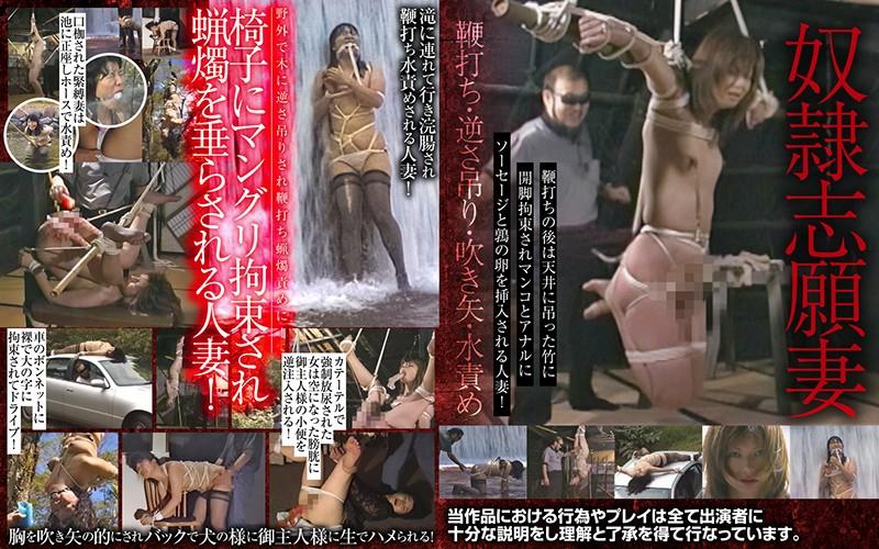奴●志願妻 鞭打ち・逆さ吊り・吹き矢・水責め パッケージ画像