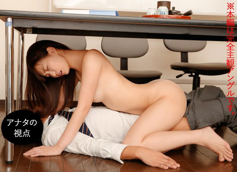 【エロVR】会議室で女子社員とイチャラブH→突然社員が入ってきて声を押し殺して隠れてセックス