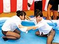 黒パンストOL限定!!黒ストッキングぬるぬる!ローション相撲 7