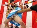 パンチラ&マンチラ盛りだくさん!素人限定!ミニスカくすぐり我慢リンボーダンス! 12