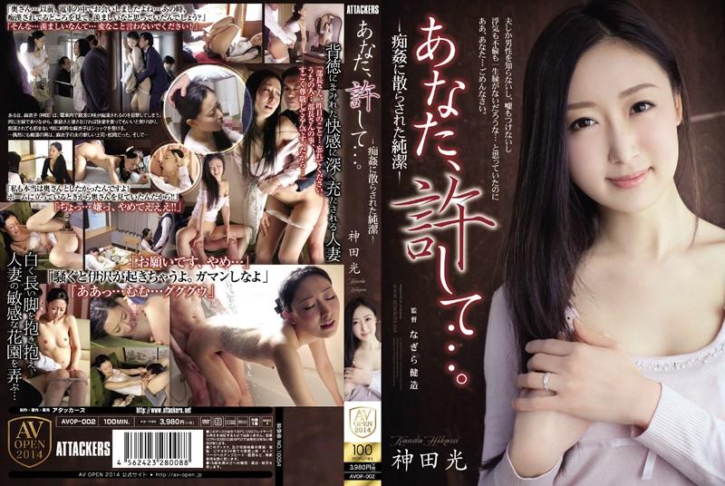 電車にて、人妻、神田光出演の辱め無料熟女動画像。あなた、許して…!