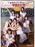 【パケ写】チラッしゃいませ!!kawaii*学園文化祭2014 パンチラJKがお出迎え♪