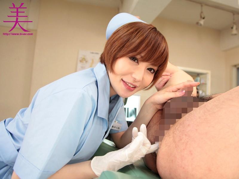 手コキナースの強制射精×チンポ潮吹かせ看護 里美ゆりあ の画像9