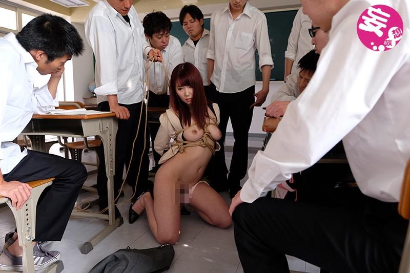 緊縛女教師 恥辱の教室 波多野結衣 の画像7