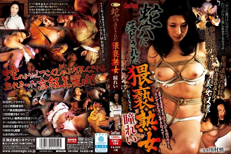 人妻、瞳れい出演の奴隷無料動画像。蛇穴に落とされた猥褻熟女 瞳れい