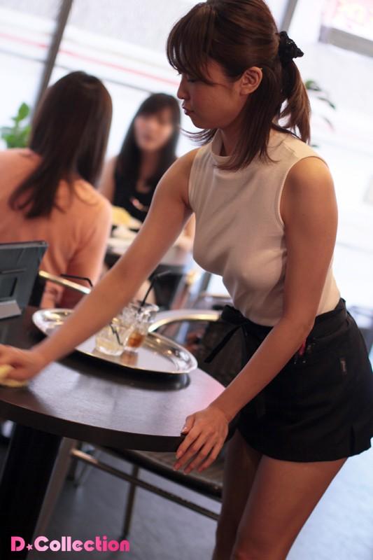 着衣おっぱいカフェ店員 山口優香 の画像8