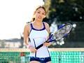 アスリートの美10代小娘、錦野圭子出演の無料ムービー。テニス競技歴12年 インターハイ出場☆