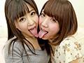 口内舌相互観察 濃密絡み合い唾液レズ接吻2