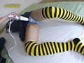 電撃!電マッサージ 21 -コスプレ制服+縞柄パンツ編- サンプル画像 No.1