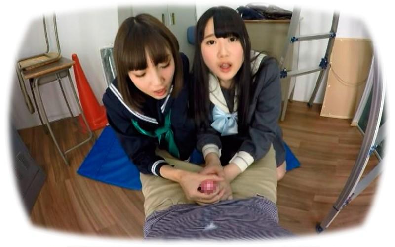 【VR】生意気JKコンビがフェラで童貞チ○ポいじめ3