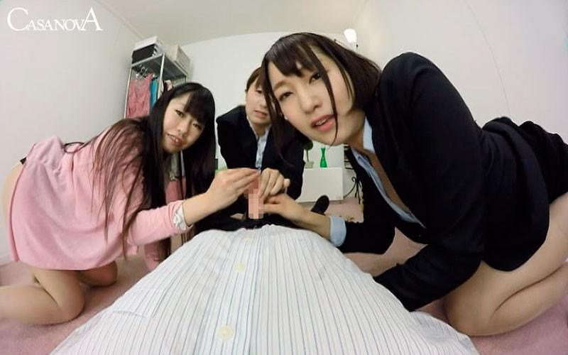 【VR】OL3人組のおねだり手コキ