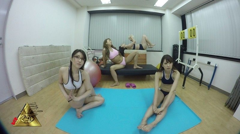 一条リオンの無料動画 【VR】エロ体操着でセクシーストレッチ
