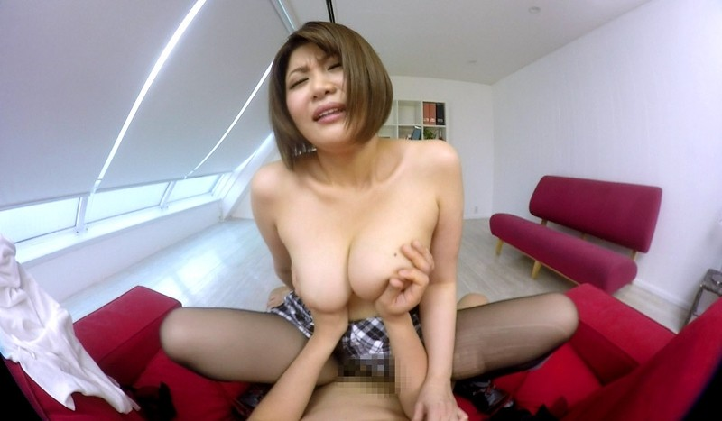 【VR】推川ゆうり ノーパンでパンストな巨乳お姉さんの挑発おあずけエッチ
