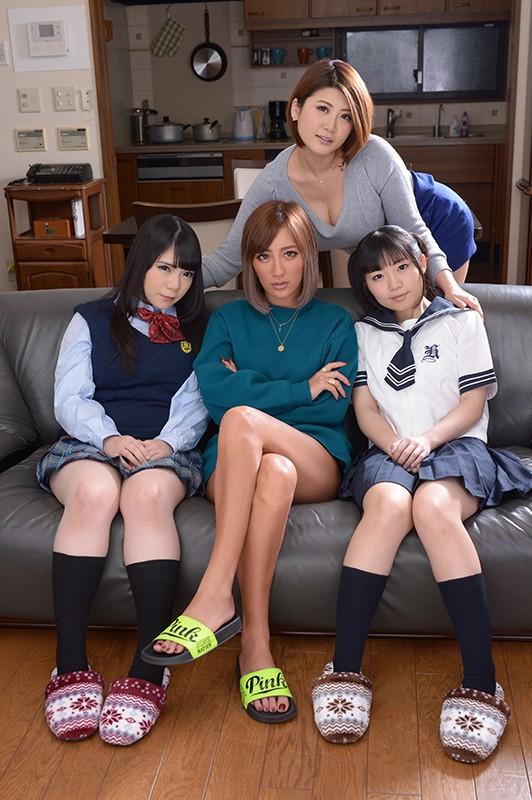 【エロVR】エッチ大好き淫乱4姉妹と同棲生活→ハーレム状態で夢の5P
