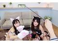 【VR】新感覚!初めての猫ミミカフェ! 飛びきりカワイイネコミミ少女達に大量中出し!星奈あい 渚みつき 画像3