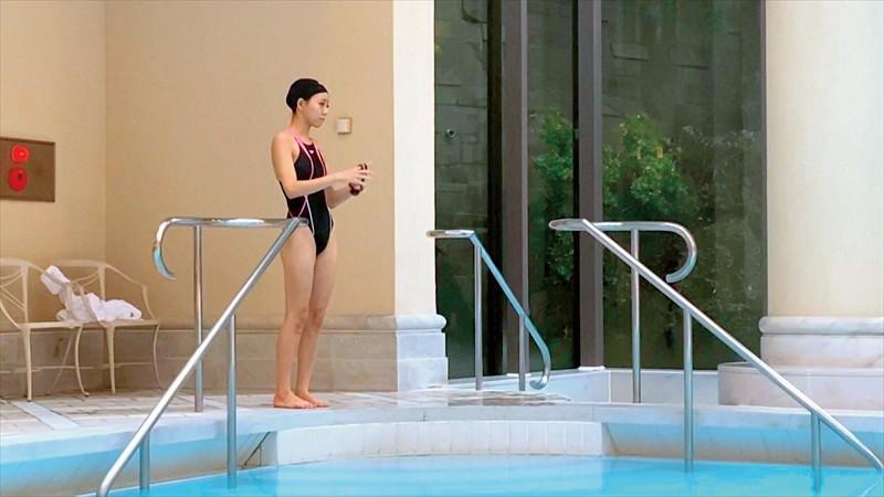 『背泳ぎ100m金メダリスト 奇跡のかわいさ奇跡の肢体 一颯めぐ AVDebut』のサンプル画像です