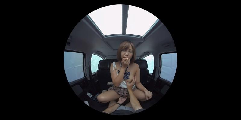 【VR】VR発情女子○生 クソ狭い車内でイヤラシイ身体を貪り合い肉食系カーセックスしまくりました 素人女子○生01ひなた-3