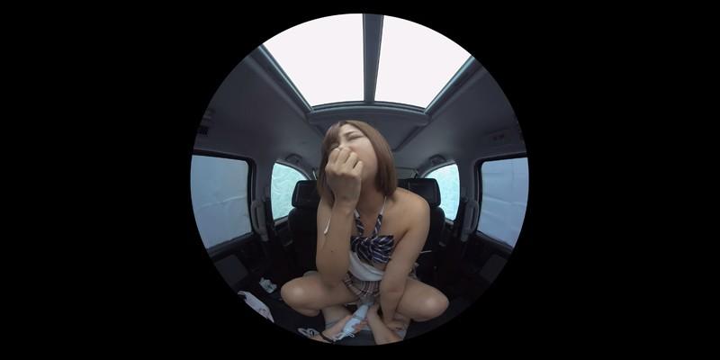 【VR】VR発情女子○生 クソ狭い車内でイヤラシイ身体を貪り合い肉食系カーセックスしまくりました 素人女子○生01ひなた-4