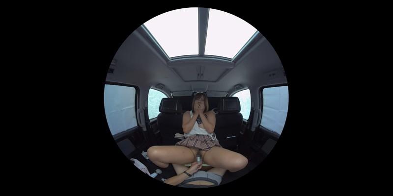 【VR】VR発情女子○生 クソ狭い車内でイヤラシイ身体を貪り合い肉食系カーセックスしまくりました 素人女子○生01ひなた-5