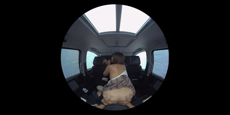 【VR】VR発情女子○生 クソ狭い車内でイヤラシイ身体を貪り合い肉食系カーセックスしまくりました 素人女子○生01ひなた-8