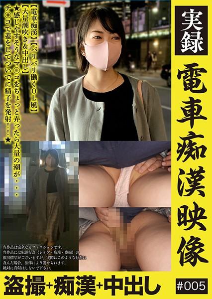 実録 電車痴●映像 #005 沢川レイ ジャケット画像