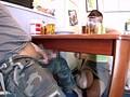 机の下でねっとりイカせる痴女 19