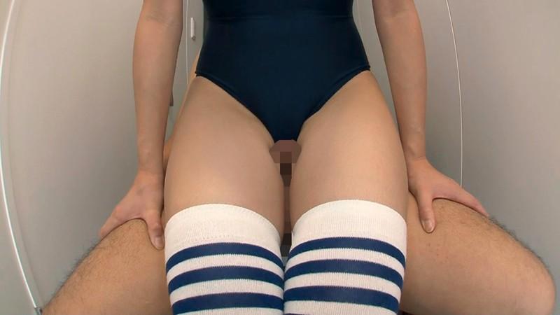 AGEMIX-169磁力_スク水女子校生のニーハイ脚コキ_葵こはる(えりか)