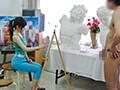 教室にて、モデルのフェラ無料熟女動画像。絵画教室 ~素直に描く~
