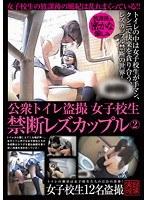 「公衆トイレ盗撮女子校生禁断レズカップル 2」のパッケージ画像