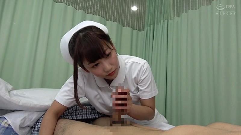 入院中に彼女が抜いてくれず、溜まってしまった僕は1人でこっそりオナニー。物音に気づいた美人ナースにバレて、内緒で色々してもらった!! 5