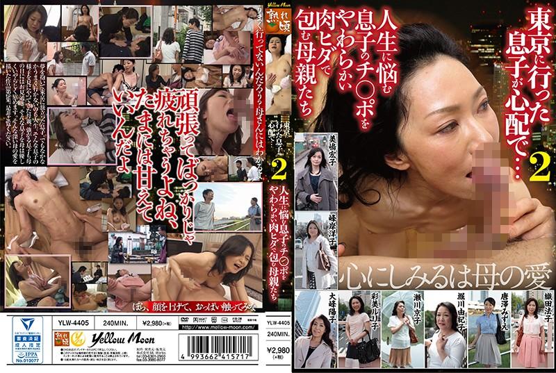 スレンダーの熟女、美嶋宏子出演の近親相姦無料動画像。東京に行った息子が心配で… 2 人生に悩む息子のチンポをやわらかい肉ヒダで包む母親たち