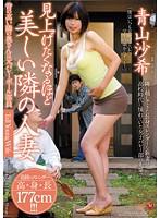 「見上げたくなるほど美しい隣の人妻 背の高い隣の奥さんは元バレーボール部員 青山沙希」のパッケージ画像